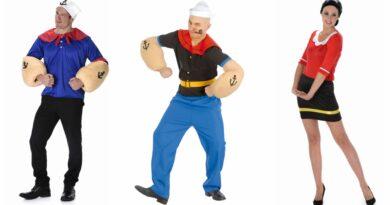 skipper skræk kostume til voksne, skipper skræk udklædning til voksne, skipper skræk voksenkostumer, skipper skræk kostume, sømand kostume til voksne, matros kostume til voksne, stærk mand kostume
