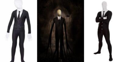 slenderman kostume til voksne og børn slenderman udklædning gyserfilm kostume