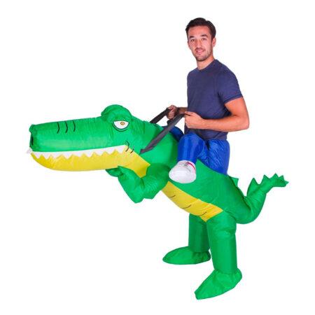 ride on krokodille carry me alligator kostume til voksne