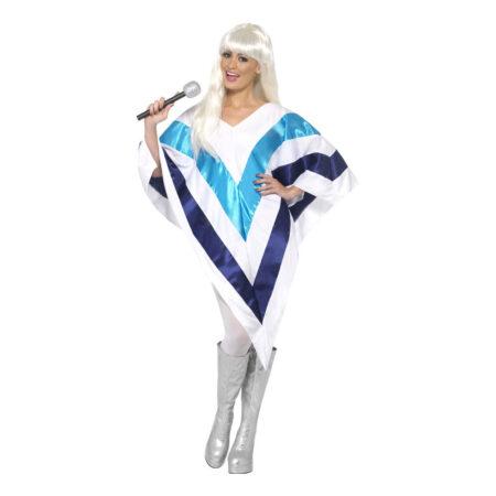 Agnetha poncho kostume abba 70erne poncho udklædning