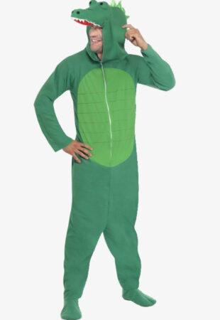 krokodille kostume krokodille udklædning mand sjovt safarikostume