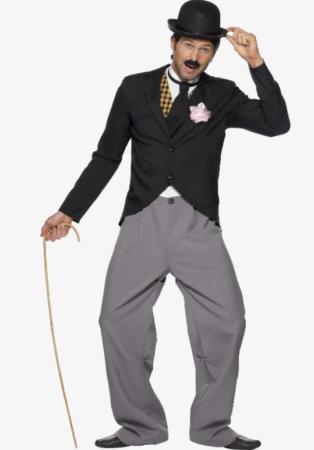 charlie chaplin kostume charlie chaplin udklædning til voksne 1920erne bowlerhat kostume