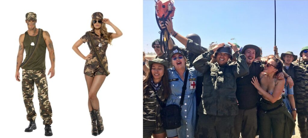 festival kostume til voksne festival army lejr soldaterlejr camp