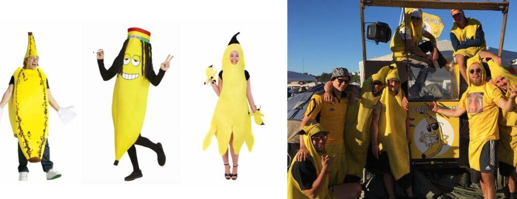 festival kostume til voksne festival banan lejr fesival udklædning banan kostume til voksne