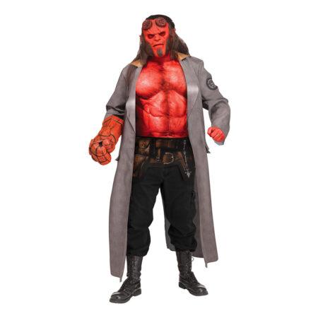hellboy luksus kostume til mænd halloween kostume til voksne rødt kostume filmkostume monster kostume antihelt kostume