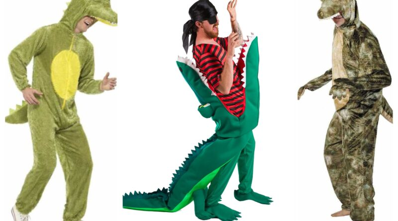 krokodille kostume til voksne, krokodille udklædning kostume til voksne, krokodille voksenkostume, dyrekostumer til voksne, krokodille kostumer, grønne kostumer til voksne