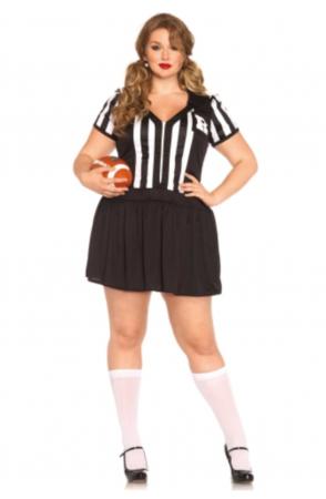 plussize fodbolddommer kostume til kvinder sportskostume plussize dommer udklædning