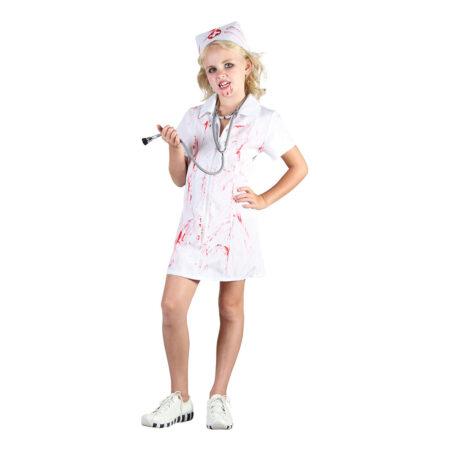 fin sygeplejeske børnekostume