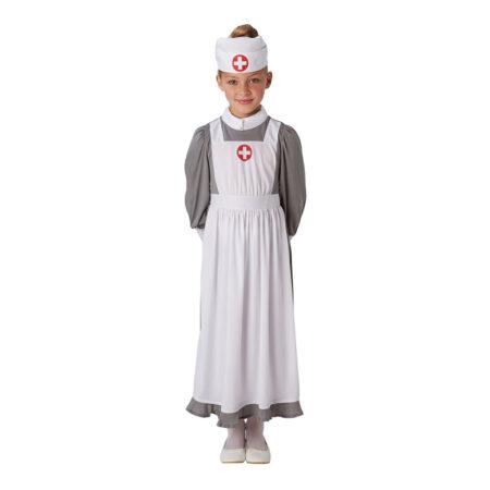 klassisk luksus kostume til børn sygeplejeske udklædning