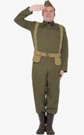 Hjemmeværns kostume til voksne 280x450 - Soldat kostume til voksne