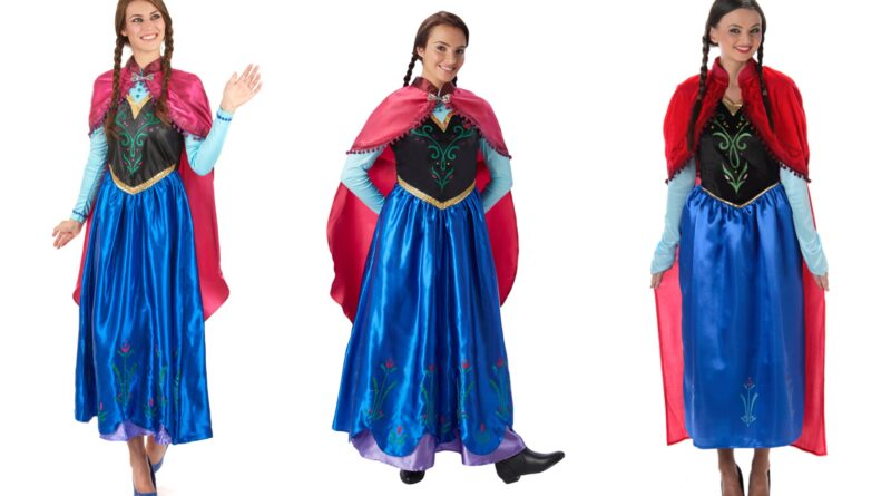 anna kostume til voksne, anna voksenkostume, frost kostume til voksne, frost voksenkostumer, prinsesse kostume til voksen, Frozen kostumer til voksne