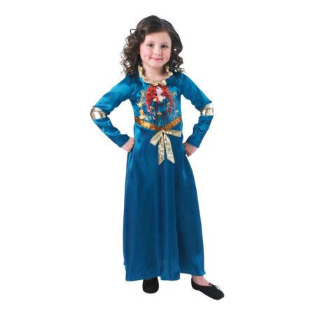 blå merida fastelavnskostume modig prinsesse kjole