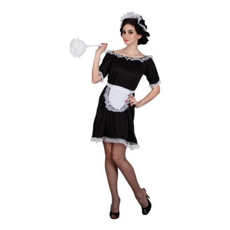 klassisk fransk maid kostume til voksne