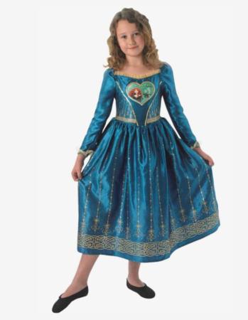merida modig kostume til piger modig kjole fastelavnskostume piger