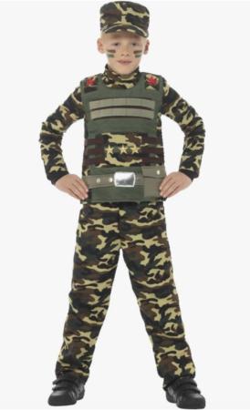 militærdreng kostume 274x450 - Soldat kostume til børn
