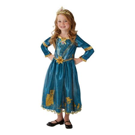 modig børnekostume flot fastelavnskostume til seje piger blå kjole