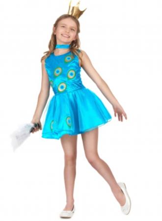 påfugl kjole til piger
