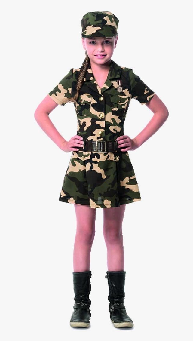 Sidste skoledag kostume militær