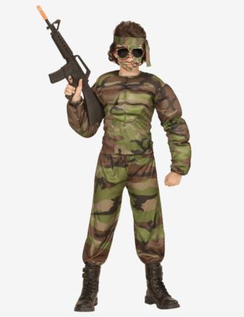 soldat udklædning til børn 347x450 - Soldat kostume til børn