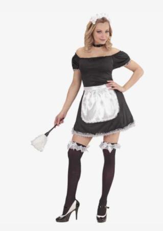 stuepige kostume til kvinder stuepige udklædning fransk stuepige babe polterabend kostume