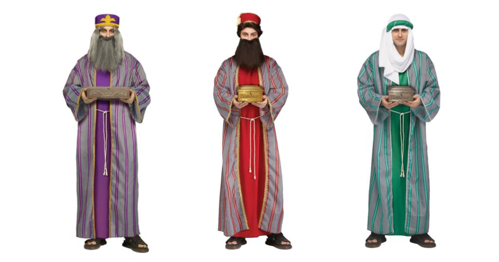 de 3 vise mænd kostume