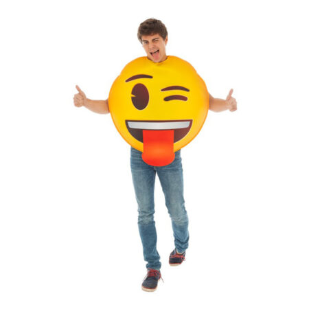 emoji kostume glad emoji række tunge smiley kostume til voksne