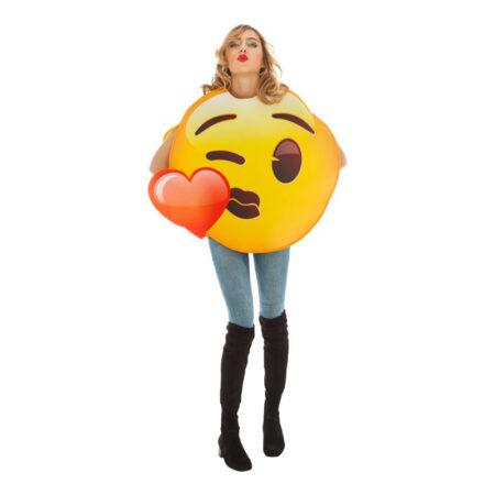 emoji kostume kysse emoji hjerte smiley kostume til voksne