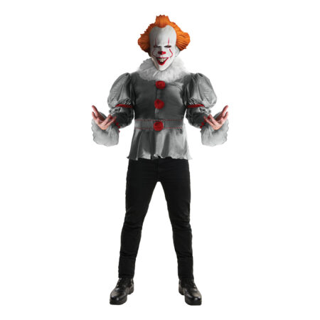 Pennywise IT kostume til voksne 450x450 - Pennywise kostume til voksne