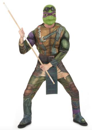 donatello ninja turtle kostume 321x450 - Ninja Turtles kostume til voksne