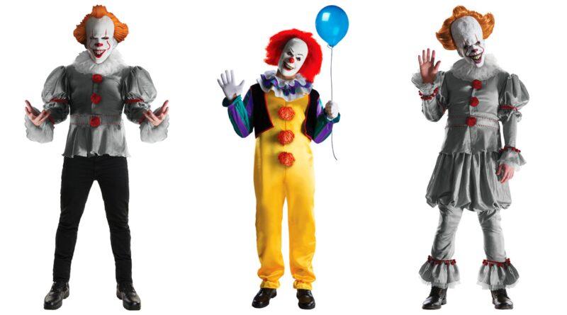 uhyggeligt klovnekostume til voksne gyserklovn dræberklovn kostume, pennywise kostume til voksne, pennywise klovnekostume, gyserfilm kostumer