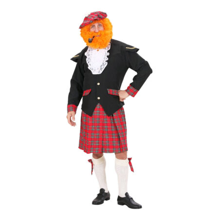 skotte med kilt kostume til voksne 450x450 - Skotte kostume til voksne
