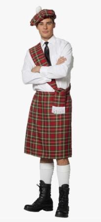 skotte voksenkostume kilt til voksne 206x450 - Skotte kostume til voksne