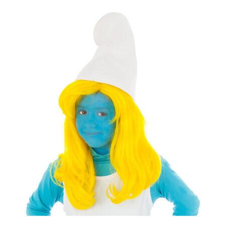 smølfine gul paryk 450x450 - Smølfe kostume til børn