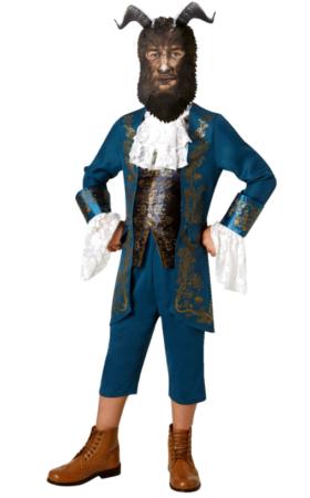 skømheden og udyret kostume til mænd