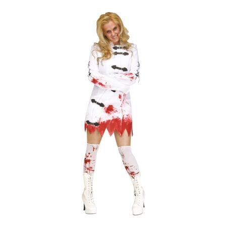 blodigt sindsyg kostume spændetrøje kostume til voksne