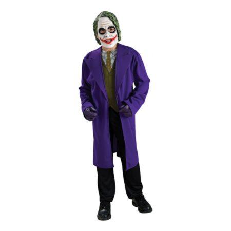 ond joker børnekostume ond batman kostume jokeren udklædning lilla halloween kostume til børn