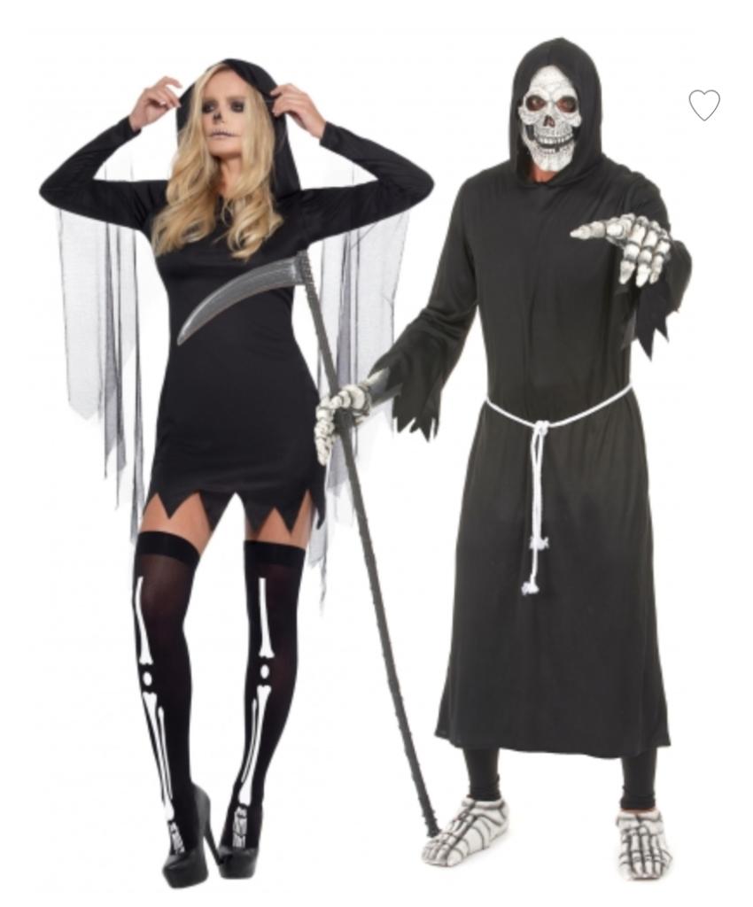 Døden par kostume til halloween 850x1024 - Halloween par kostume til voksne