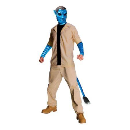 avatar jake sully kostume til voksne blåt kostume universet temafest