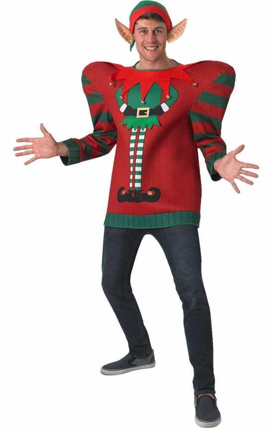 bredskuldret alfe julesweater kostymer jule sweater christmas jumpers - Julesweater til mænd