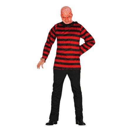 freddy krueger kostume til halloween seriemorder kostume til voksne gyserfilm kostume fredag den 13. kostume nightmare on elm street kostume til voksne