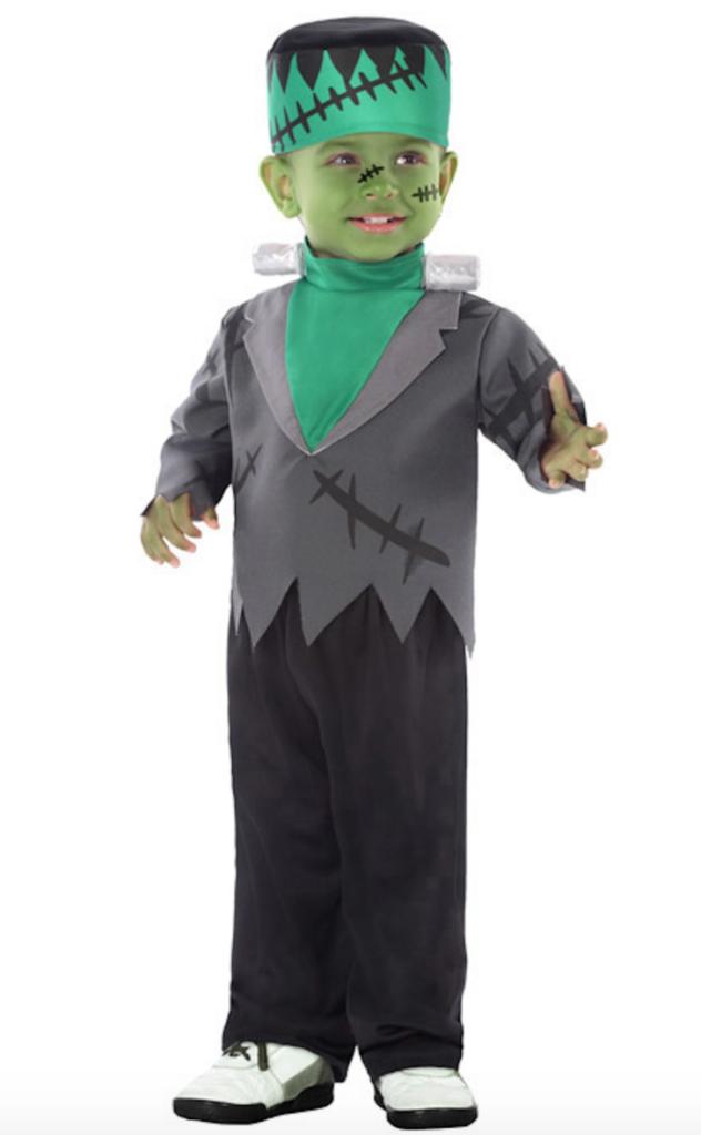 grøn monster babykostume 632x1024 - Frankenstein kostume til baby