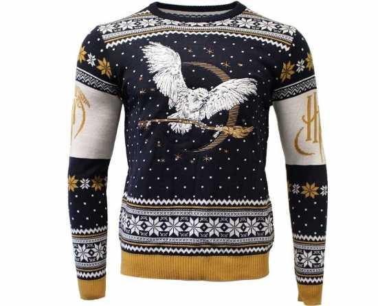 harry potter hedwig jule sweater  - Julesweater til mænd