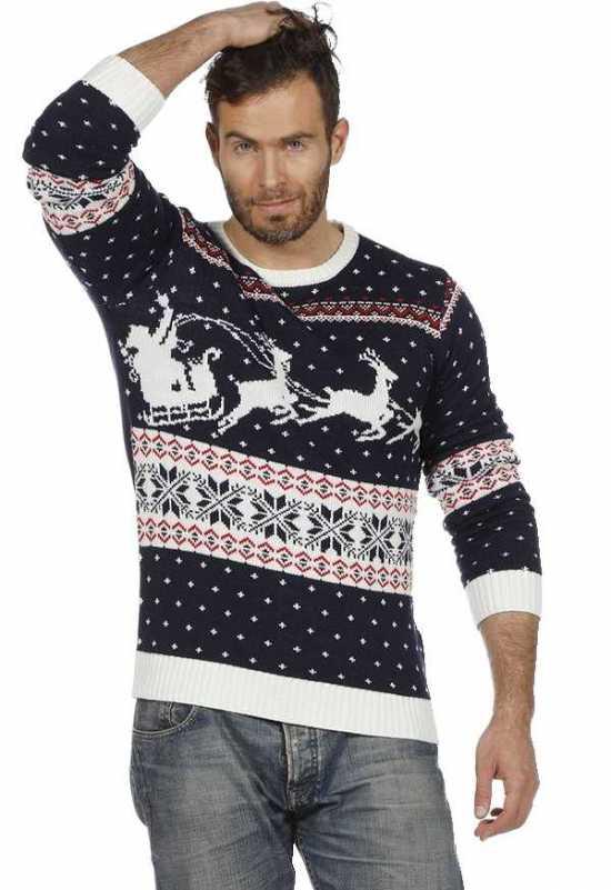 jule sweater blaa kostymer jule toej - Julesweater til mænd
