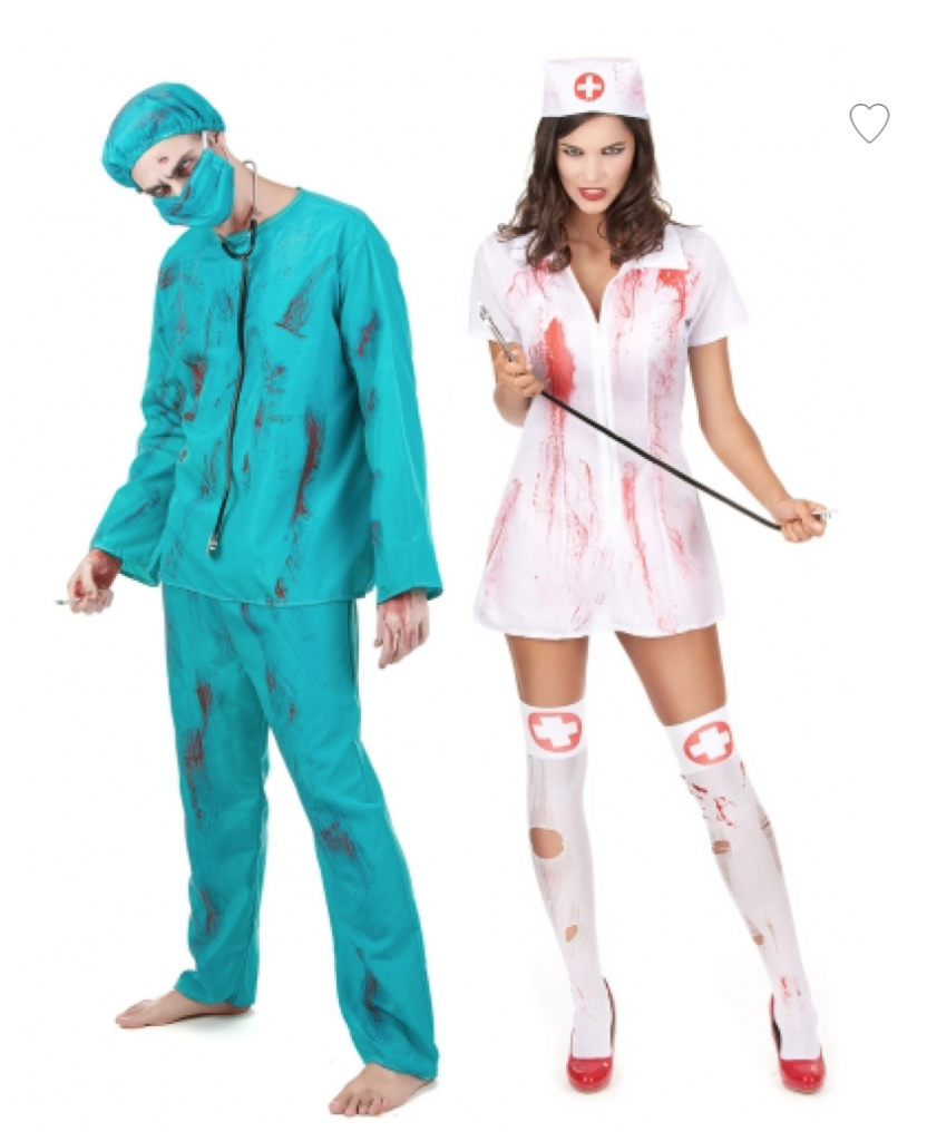 par kostume læge og sygeplejerske 832x1024 - Halloween par kostume til voksne