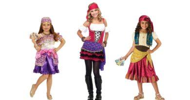 sigøjner kostume til børn spåkone kostume til børn roma kostume barn fastelavnskostume til piger 390x205 - Sigøjner kostume til børn