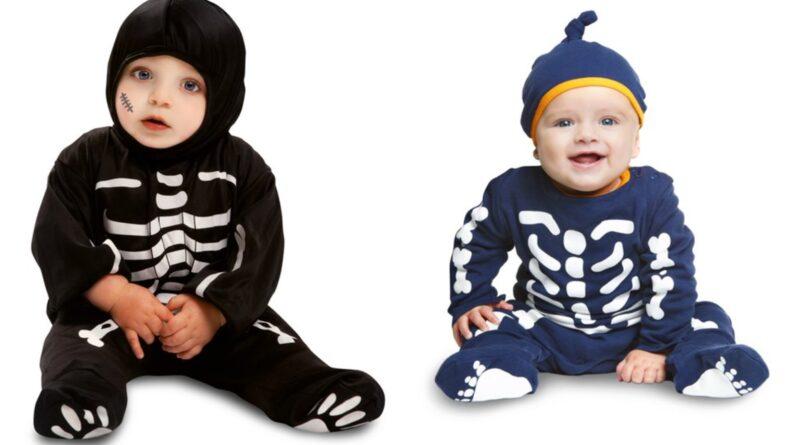 skelet kostume til baby, skelet udklædning til baby, skelet babykostumer, skelet kostumer, skelet børnekostume, halloween kostume til baby, halloween babykostumer