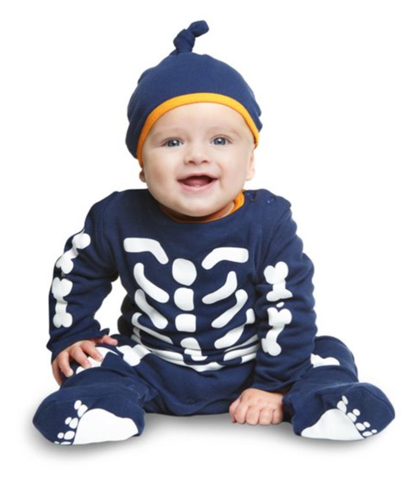 skeletdragt til baby 854x1024 - Skelet kostume til baby