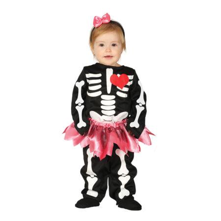 skeletkjole babykostume 450x450 - Skelet kostume til baby