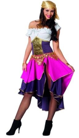 smuk gypsykjole til kvinder roma udklædning sigøjner kostume til kvinder