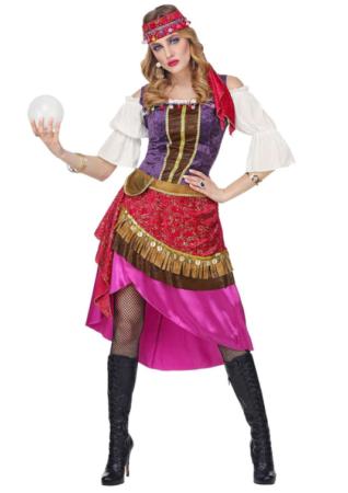 spåkone kostume sigøjner kostume til voksne